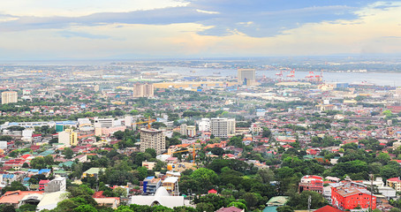 Metro Cebu at sunset