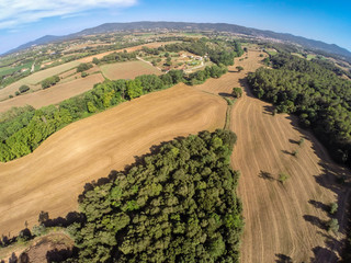 aerial rural view from Cardedeu, Catalonia