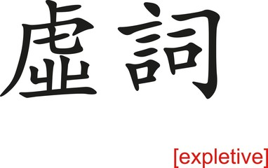 Chinese Sign for expletive