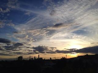 sonnenuntergang in Wien