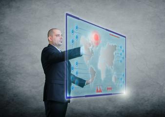 Hologramm Zukunft Spionage Mann Interface
