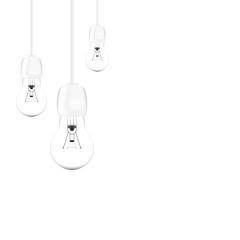 White light bulb isolated on white background