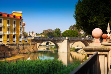 Old bridge over Segura river in Murcia