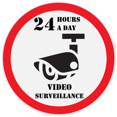 Video surveillance sign, 24 hours