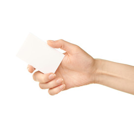 Female caucasian hand isolated