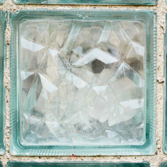 Glass brick fragment