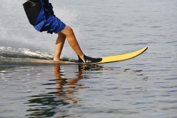 Water Skiing sport on a Lake