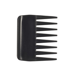 Black plastic hair comb
