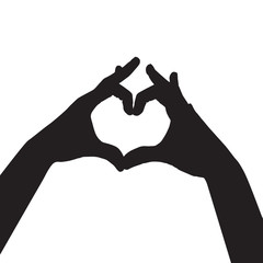 heart made with hands silhouette