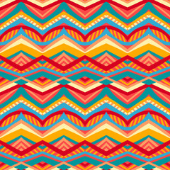 multicolored tribal pattern
