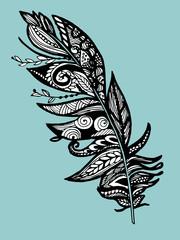 piuma maori tribale