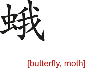 Chinese Sign for butterfly, moth