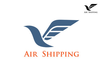 Air shipping symbol or emblem
