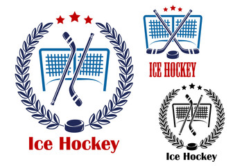 Ice hockey net emblems