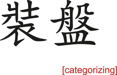 Chinese Sign for categorizing
