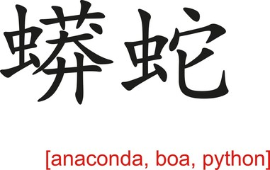 Chinese Sign for anaconda, boa, python