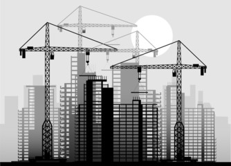 building an industrial background in it is black white color