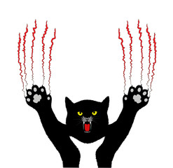 evil cat scratch background