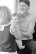 Grandmother play with her grandchildren