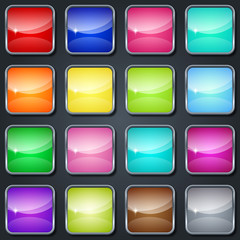 Colorful glass buttons
