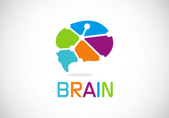 brain idea tech vector logo
