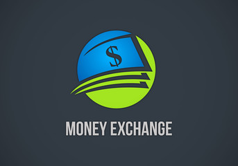 money dollar exchange logo