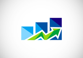 stock-exchange-graph-abstract-vector-logo