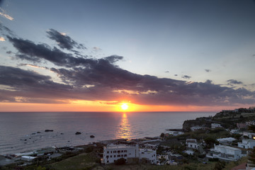 Sunset at Forio in Ischia