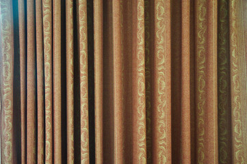 Abstract images of theatre curtains up close