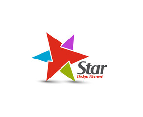 Colorful star icon, vector illustration