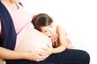 妊婦と幼い姉