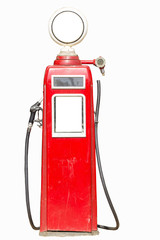 red retro gasoline pump