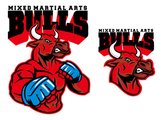 MMA fighter bull