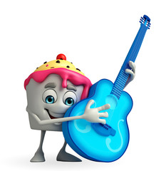 Ice Cream character with guitar