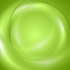 Abstract green shiny wavy design