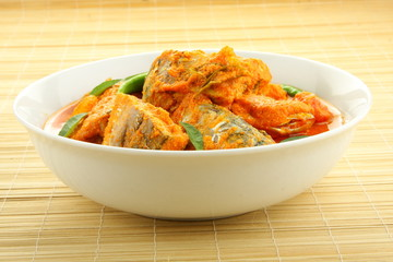 Fish curry with cocout.