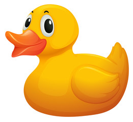 A cute yellow rubber duck