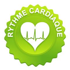 rythme cardiaque sur bouton web denté vert