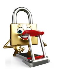 Lock Character with walking machine