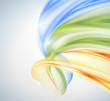 Abstract yellow green blue wave background
