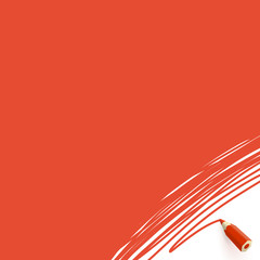 Red background with pencil