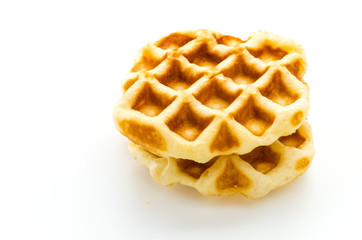 Waffle isolated on white background