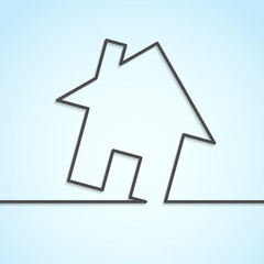 House icon lines background template