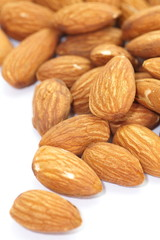 Close - up heathy food almonds seed