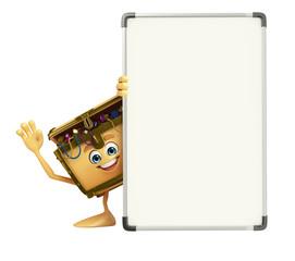 Treasure box character with display board