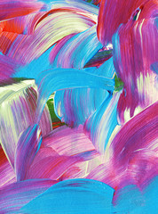 Beautiful colorful abstract oil painting