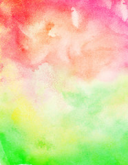 Abstract bright colorful watercolor