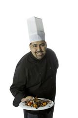 chef presenting a dish
