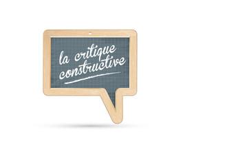 la critique constructive - évaluation