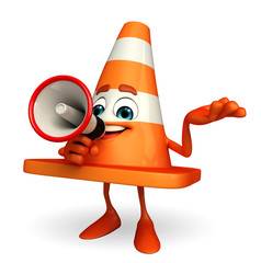 Construction Cone Character with loudspeaker